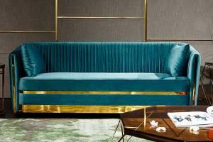 Трехместный диван UF-PM28 Охford luxe 46#