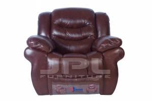 8001 Кожаное кресло с механизмом - реклайнер  электрическое