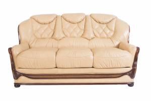 Кожаный диван Maria трехместный (с механизмом), цвет 86#