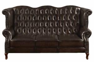 Кожаный диван В-273 трехместный, цвет 08#