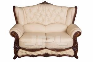 Кожаный диван Victoria двухместный  (с механизмом)