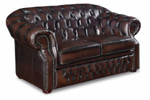 Кожаный диван Paul двухместный с механизмом, цвет 08#
