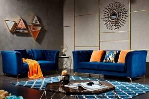 8001 Кожаный диван с механизмом- реклайнер  двухместный