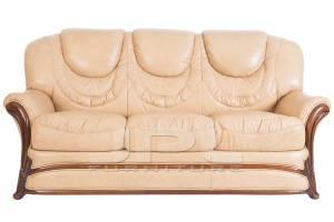 Кожаный диван Anna трехместный  (с механизмом)