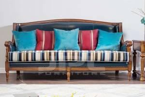 Кожаный диван трехместный 96-602В