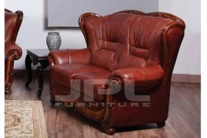 Кожаный диван А-100 двухместный без механизма