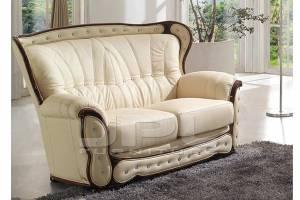 Кожаный диван А-101 двухместный без механизма