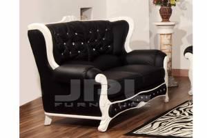 Кожаный диван А-108 двухместный без механизма