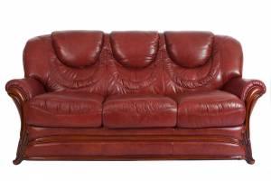 Кожаный диван Anna трехместный, цвет 88#