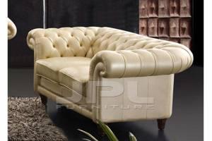 Кожаный диван В-288 двухместный без механизма, цвет 86#