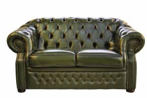 Кожаный диван Paul двухместный с механизмом, цвет 09