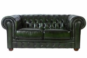 Кожаный диван Chester двухместный без механизма, цвет 09#
