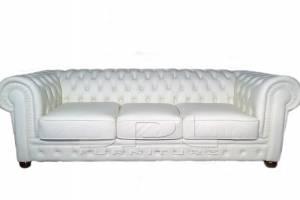 Кожаный диван Chester трехместный с механизмом