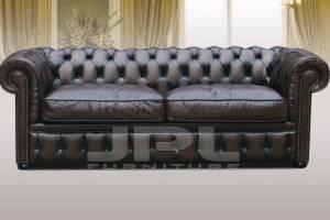 Кожаный диван Chesterfield трехместный