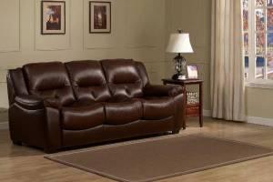 8004 Кожаный диван трехместный