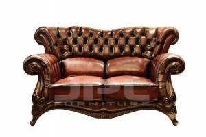 Кожаный диван DCS 9004 двухместный без механизма