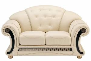 Кожаный диван Versace двухместный, цвет 17#