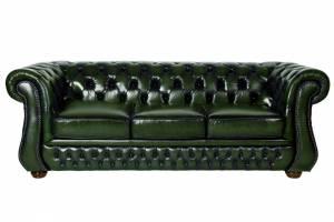 Кожаный диван Karen трехместный с механизмом, цвет 09#