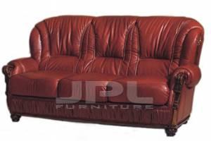 Кожаный диван Croiser трехместный, с механизмом цвет 49#
