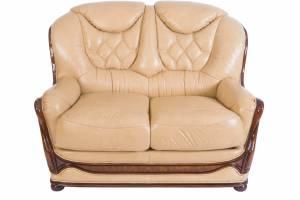 Кожаный диван Maria двухместный, цвет 86#