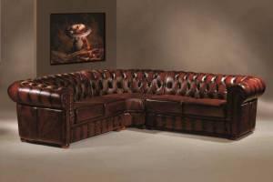 Кожаный угловой диван Chester