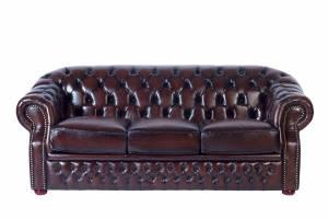 Кожаный диван Paul трехместный, цвет 08#