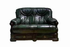Кожаный диван Oakman двухместный, цвет 09#