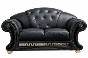Кожаный диван Versace двухместный, цвет 19