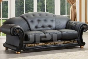 Кожаный диван Versace трехместный