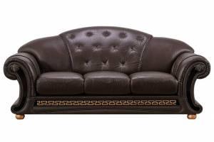 Кожаный диван Versace трёхместный, цвет 37#