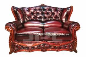 Кожаный диван Victoria двухместный (с механизмом), цвет 10#