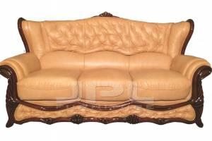 Кожаный диван Victoria трехместный, цвет 39#