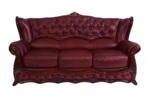 Кожаный диван Victoria трехместный, цвет 88#
