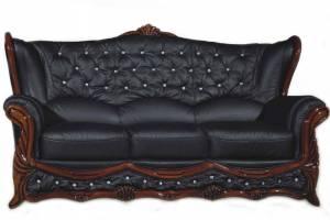 Кожаный диван Victoria трехместный, цвет 19#