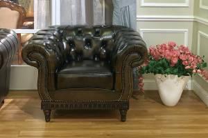 Кожаное кресло В-264
