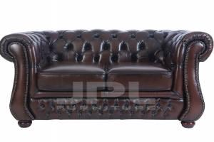 Кожаный диван Karen двухместный с механизмом, цвет 08#