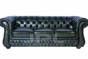 Кожаный диван Karen трехместный без механизма, цвет 09#