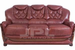 Кожаный диван Maria трехместный  (с механизмом), цвет 88#