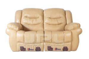 8001 Кожаный диван с механизмом- реклайнер  двухместный, цвет 86#