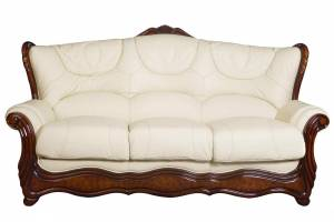Кожаный диван Brio трехместный  (с механизмом), цвет 22#