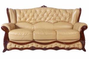 Кожаный диван Victoria трехместный, цвет 86#