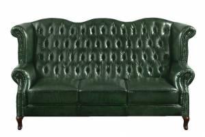 Кожаный диван В-273 трехместный без механизма, цвет 09#