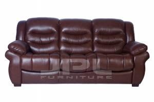 8001 Кожаный диван  трехместный  (с механизмом)