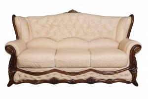 Кожаный диван Victoria трехместный, цвет 17#