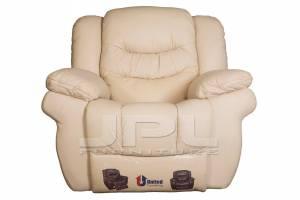 8001 Кожаное кресло с механизмом- реклайнер механическое, цвет 17#