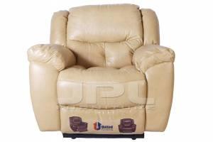 8004 Кожаное кресло с механизмом - реклайнер  механическое (качалка)