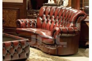 Кожаный диван 80615 двухместный без механизма