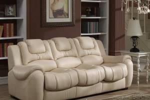 8002 Кожаный диван  трехместный