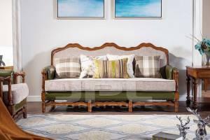 Кожаный диван трехместный 96-6011С