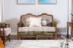 Кожаный диван двухместный 96-6011В
